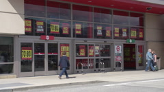 Stock Video Footage of Bankruptcy -  Target store closing, Canadian location