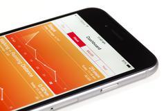 Using the Health app in iOS 8 Stock Photos