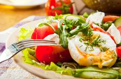 Healthy morning nutrition - stock photo