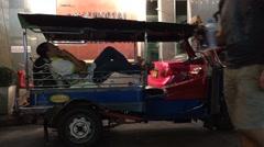 tuk tuk driver in Bkk street - stock footage