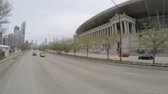 Chicago Bears Football Stadium Chicago Stock Footage