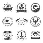 Sea Food Label Set Piirros