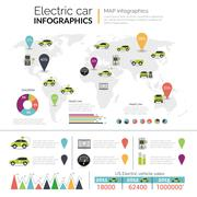 Electric Car Infographics Stock Illustration