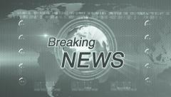 Breaking news generic diffrent green Stock Footage