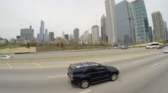 Traffic on Chicago, Illinois Stock Footage