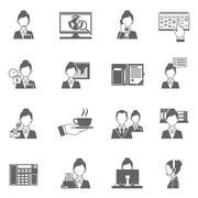 Stock Illustration of Personal Assistant Icons