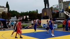 Ukraine, Pavlograd City, September 23 - streetball competitions. Stock Footage