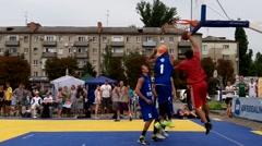 Ukraine, Pavlograd City, September 23 - streetball competitions Stock Footage