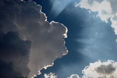 Heavenly Cloudscape - stock photo