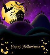 Happy Halloween Postcard Stock Illustration