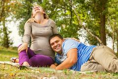 Happy expectant time Stock Photos