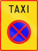Stock Illustration of Taxi Stand in Finland