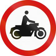 No Motorcycles in Poland Stock Illustration