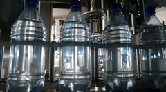 Automatic bottling line for bottled pure water Stock Footage