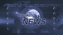 Breaking news generic diffrent blue Stock Footage