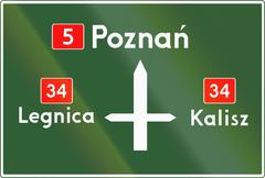 Direction Diagram Sign In Poland - stock illustration