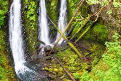 Triple Falls View in Oregon - stock photo