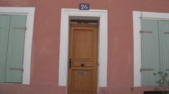 Reddish front door with windows Stock Footage