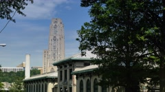 Cathedral of Learning Establishing Shot Stock Footage
