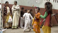 Varanasi, India, Republic Day, 26 January. Dancing children. Stock Footage