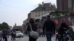 ULTRA HD 4K Traffic street residential district Munich downtown crowded road car Stock Footage