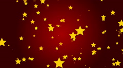 Red background, particle star, loop Stock Footage