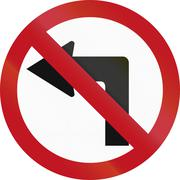 Stock Illustration of No Left Turn in Colombia