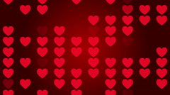 wedding red background, abstract motion, loop - stock footage