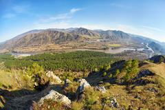 Stock Photo of Altai landscape with river Katun