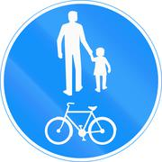 Stock Illustration of Shared Use Path in Finland