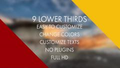 Flat Triangle Lower Third - stock after effects