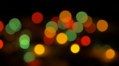 Out of focus colorful Christmas decorative lights 4K 3840X2160 UHD footage - Stock Footage