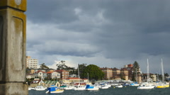 Stormy clouds over Manly harbor 4K Stock Footage