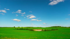 summer landscape, panoramic timelapse - stock footage