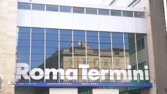 Termini train station in Rome Stock Footage