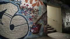 Leake Street Graffiti Tunnel, London | HD 1080 Stock Footage