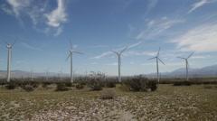 Sustainable Wind Farm near Palm Springs Stock Footage