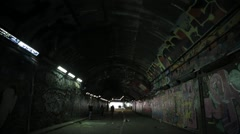 Leake Street Graffiti Tunnel, London | HD 1080 - stock footage