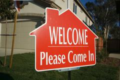 Welcome, Please Come In Sign Stock Photos