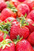 Ripe strawberry. - stock photo