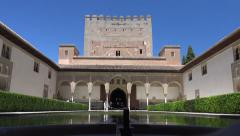 Alhambra, Court of the Myrtles Stock Footage