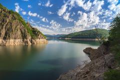 Vidraru lake, Romania - stock photo
