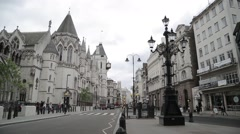 The Royal Courts of Justice, London Stock Footage