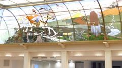 "Interior of ""Detsky mir"" (children's world) shopping mall Stock Footage"
