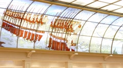 """Interior of """"Detsky mir"""" (children's world) shopping mall Stock Footage"""