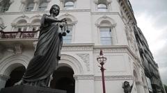 Holborn Viaduct Statue, London Stock Footage
