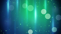 Blue green circle and stripe lights loopable background Stock Footage