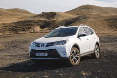 Toyota RAV4 on terrain - stock photo