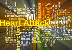 Heart Attack background concept glowing Stock Illustration