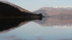 Reflections in Loch Earn St Fillans Scotland Stock Footage